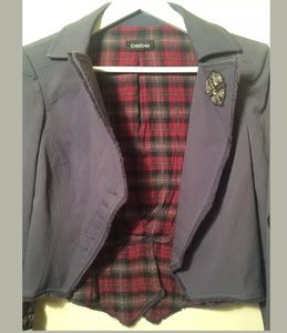 bebe Jackets & Coats - Bebe military jacket blue grey